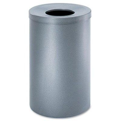 Safco Black Speckle Open Top Receptacle - 36 Gal Capacity - Round - (9677nc)