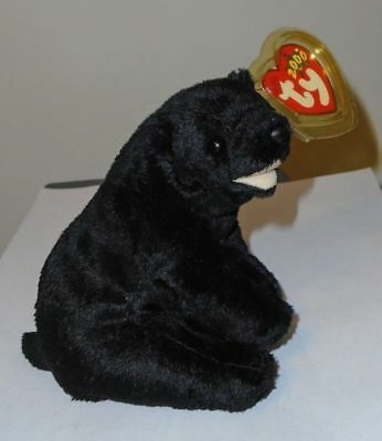 Ty Beanie Baby ~ CINDERS the Bear ~ MWMT