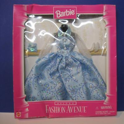 NEW 1996 BARBIE DOLL FASHION AVENUE OUTFIT Cloth-DELUXE EVENING GOWN BLUE DRESS