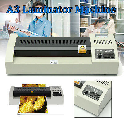 AUS A3 Laminating Laminator Plastic Cold Hot Mounted Thermal Roller Pouch Menu