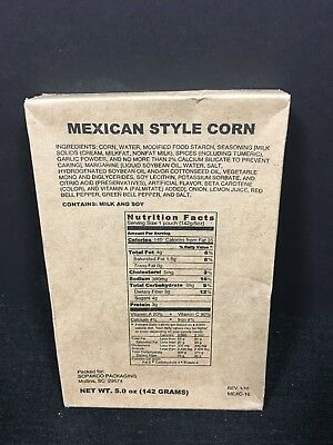 Military Mre Side Mexican Style Corn Survival Food Ration Prepper Camping Hiking