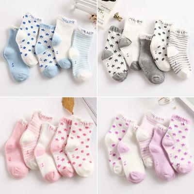 5 Pairs/set Soft Cotton HOT 0-6 Years Socks Lovely Baby Newborn Infant Hot Uylj