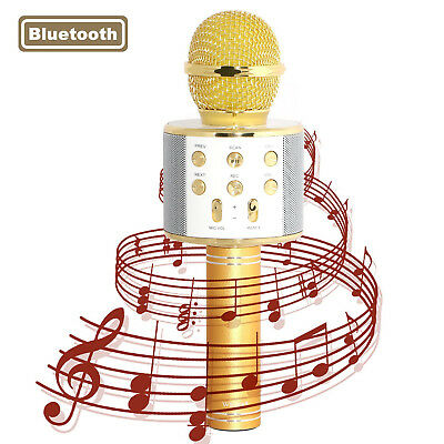 NEW Karaoke Microphone Handheld Wireless Mic Compatible For IOS Android Home KTV