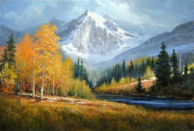 Snow Mountain Scenery Landscape oil Painting Hd Printed on canvas P1164