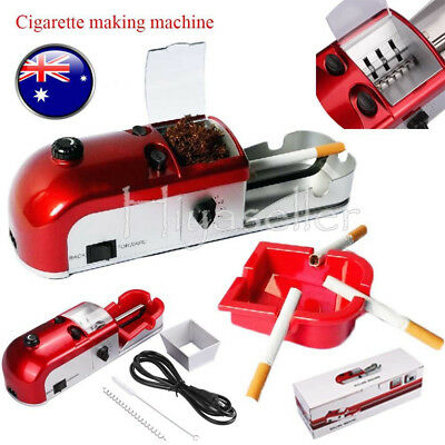 Automatic Cigarette Rolling Machine Electric Tobacco Roller Injector Maker 25W