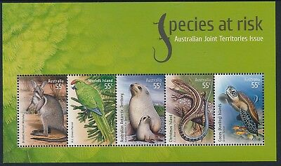 2009 Christmas Island Species At Risk Minisheet Mnh Joint Territories Issue
