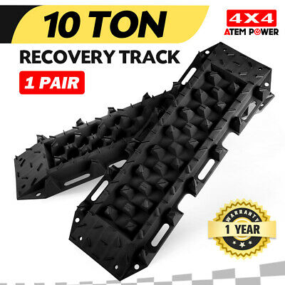 Pair Recovery Tracks Sand Track 10T Sand Snow Mud Trax Black ATV Offroad 4WD NEW