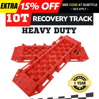 10T Heavy Duty Recovery Tracks Sand Track 10T Vehicle Sand Snow Mud Trax Red 4WD