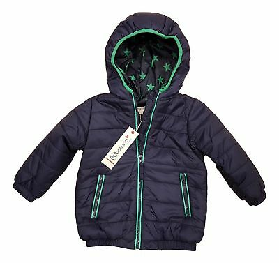 Designer Baby Boys Coat Bomber Jacket Quilted Puffa Hooded BNWT Babaluno Red