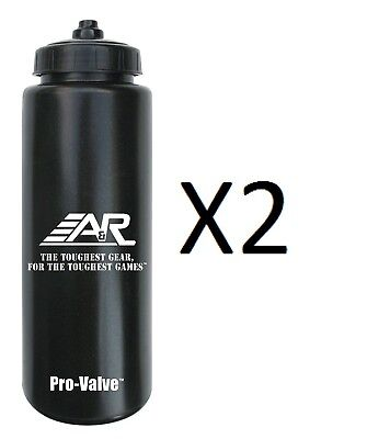 A&R 32 oz Pro-Valve Squeeze Water Bottle Spill Proof Pressure Release (2-Pack)