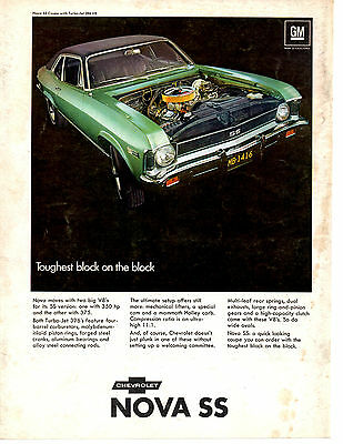 1968 Chevrolet Nova Ss 396 ~ Original Muscle Car Ad