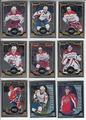 15/16 OPC Platinum Washington Capitals Team Set W/ RC`s + SP Ovechkin Galiev +