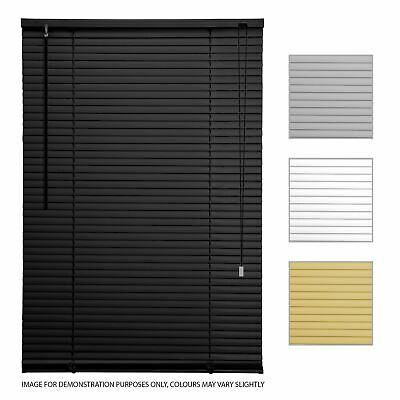 PVC Venetian Shutter Blinds Window Custom Trimable Home Office Twist Open Close