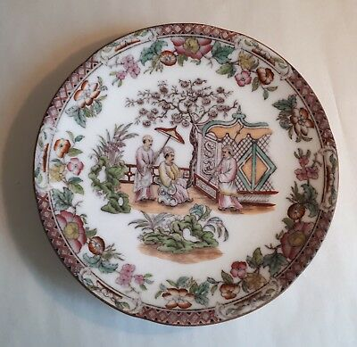 Antique c1880 Japanese Meiji Period Charger/ Plate. Male Dignitary & Guards. VGC