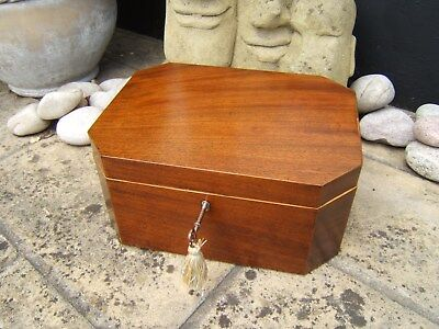 Lovely Georgian  Mahogany Antique Document/jewellery Box  Fab Interior