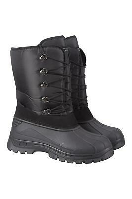 Mountain Warehouse Mens Snow Boots with Water Resistant and Waterproof Membrane