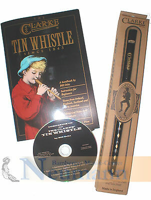 tinwhistle Clarke tin whistle d-dur beginner Set flöte mit buch in english + CD