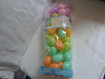 NEW Lot of 48 Plastic Pastel Colored Easter Eggs Great For All Parties!!