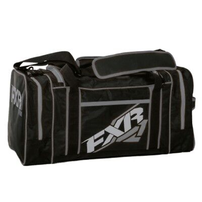 FXR Heavy-Duty Duffle Snowmobile Snow Gear Travel Bag - Black & Charcoal