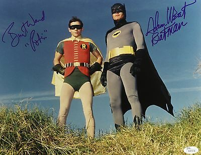 1966-68 Adam West Burt Ward Batman Signed LE 11x14 Color Photo (JSA)