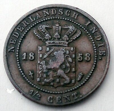 Netherlands East Indies 1/2 Cent 1858 O8.3