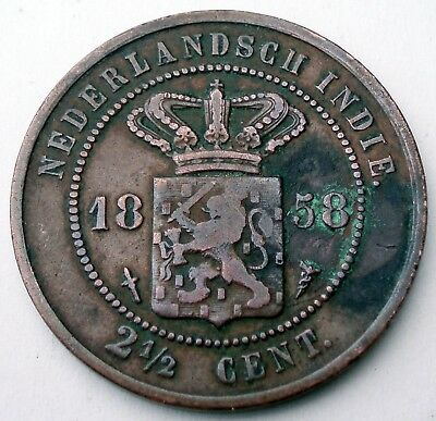 Netherlands East Indies 2-1/2 Cent 1858 H9.1