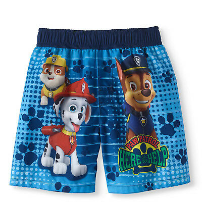 NEW Toddler Boys Nickelodeon Licensed Paw Patrol Board Swim Trunks Shorts 4T