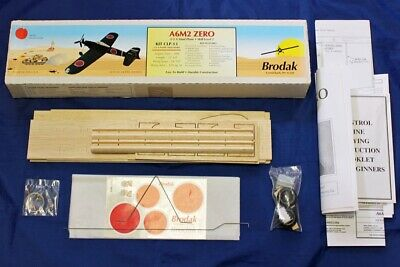 CLP-13 049 Model Airplane Control Line Kit Brodak A6M2 Zero for Cox .049 Engine
