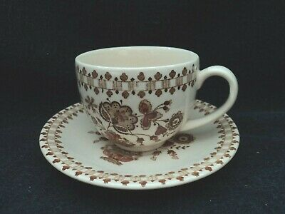 Johnson Brothers - JAMESTOWN BROWN - Teacup and Saucer