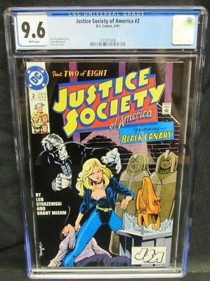 Justice Society of America #2 (1991) Black Canary CGC 9.6 White Pages CM770