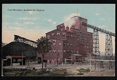 Antique Vintage Postcard Coal Breaker Anthracite Region Pa 1911