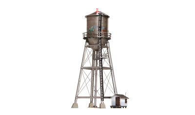 Woodland Scenics BR5064, HO Scale Built & Ready Rustic Water Tower, LED Lighting