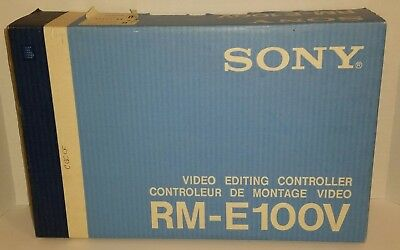 Vintage SONY RM-E100V ANALOG VIDEO EDITING CONTROLLER