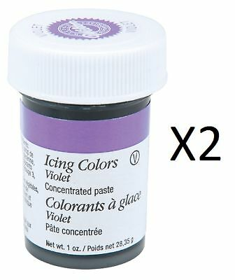 Wilton Violet Food Coloring Concentrated Paste 1 Oz Icing/Cakes 610-604 (2-Pack)