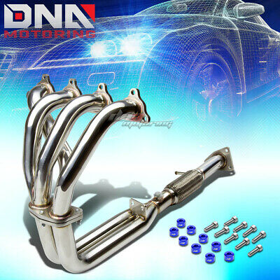 J2 FOR BB6 BASE STAINLESS EXHAUST MANIFOLD FLEX HEADER+RED WASHER CUP BOLT