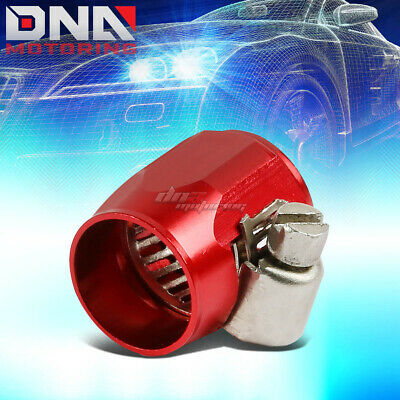 An6 An-6 Push On Hose End Cover Clamp Finisher Red Aluminum Anodized Fitting