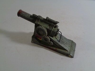 Vintage Antique Small Cast Aluminum Toy Cannon Made in USA Circled M Hallmark
