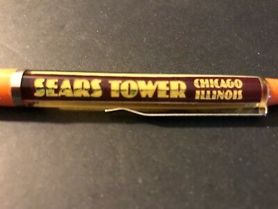 Vintage SEARS TOWER CHICAGO ILLINOIS Denmark Floaty Pen (for display)