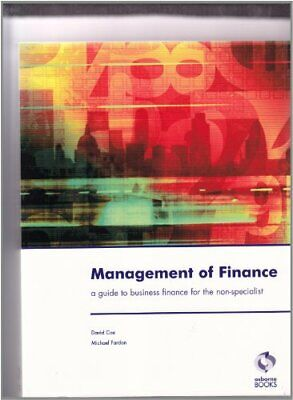 Management of Finance by Fardon, Michael Paperback Book The Cheap Fast Free Post
