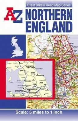 Northern England Road Map by Geographers' A-Z Map Company Sheet map, folded The