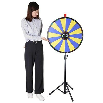 "WinSpin® 24"" Prize Wheel with LED Lights Floor Stand Fortune Spin Game Tradeshow"