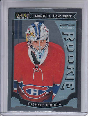 15/16 OPC Platinum Montreal Canadiens Zachary Fucale Rookie RC #M37
