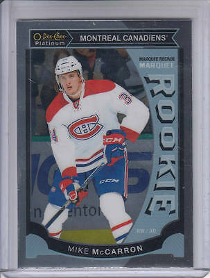 15/16 OPC Platinum Montreal Canadiens Mike McCarron Rookie RC #M39