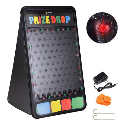 WinSpin® Customizable Prize Drop Board Game w/ LED Light 12 Pucks Carnival Party