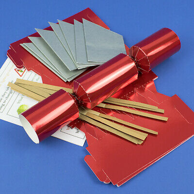 Red Foil MINI Make & Fill Your Own Cracker Making Craft Kits & Boards