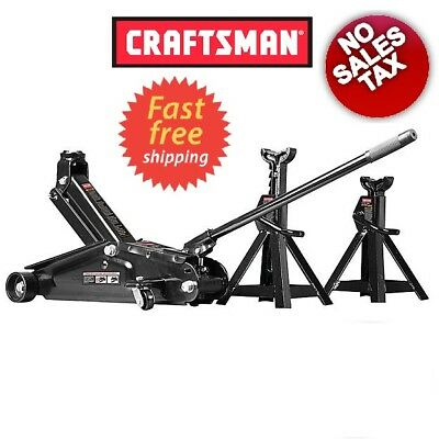 (Big Sale) Craftsman 2-1/4 ton Floor Jack Set with 2-1/4 ton Jack Stands - New