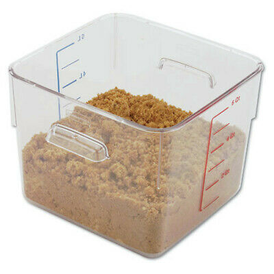 Rubbermaid 6 qt. SpaceSaver Square Container (Clear) 6306CLE NEW
