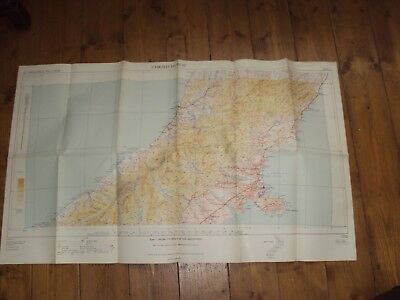 TOPOGRAPHICAL MAP OF CHRISTCHURCH 1st ED 1949  - LARGE FOLD OUT
