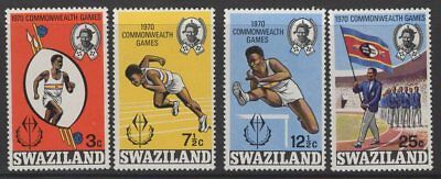 Swaziland Sg180/3 1970 Commonwealth Games Mnh