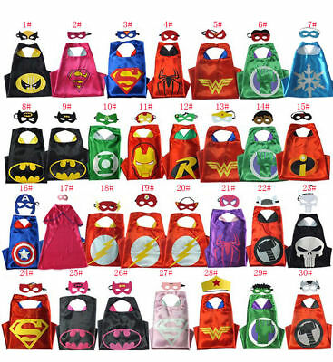 Kids Super Hero Boy (Cape + Mask) Christmas Fancy Costume Girls Cosplay Outfit